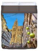 Strasbourg,christmas Market, Alsace France  Duvet Cover