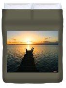 Sunrise / Sunset / Indian River Duvet Cover