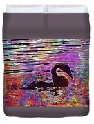 Swan Young Animal Bird Waters  Duvet Cover