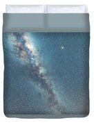 The Milky Way And Mars Duvet Cover