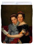 The Sisters Zenaide And Charlotte Bonaparte Duvet Cover
