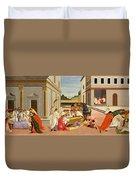 Three Miracles Of Saint Zenobius Duvet Cover