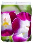 Torenia Named Kauai Magenta Duvet Cover