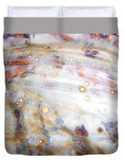 4. V2 Dirty Brown And White Glaze Painting Duvet Cover
