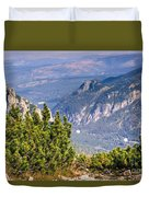 View Of Tatra Mountains From Hiking Trail. Poland. Europe. Duvet Cover