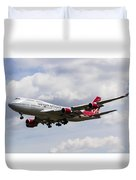 Virgin Atlantic Boeing 747 Duvet Cover