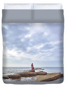 Walking Into The Sea Duvet Cover