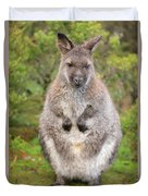 Wallaby Outside By Itself Duvet Cover
