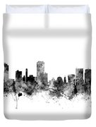 Wellington New Zealand Skyline Duvet Cover