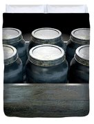 Whiskey Jars In A Crate Duvet Cover