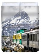 White Pass Mountains In British Columbia Duvet Cover