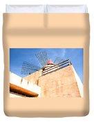 Windmill - Trapani Salt Flats Duvet Cover