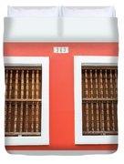 Wooden Door In Old San Juan, Puerto Rico Duvet Cover