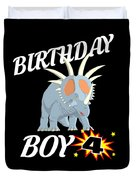 4 Years Old Birthday Design Dinosuar Shirt Duvet Cover