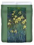 Yellow Irises Duvet Cover
