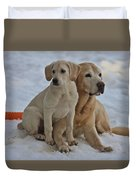 Yellow Labradors Duvet Cover