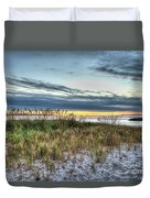 Yorktown Beach At Sunrise Duvet Cover
