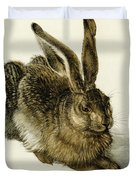 Young Hare Duvet Cover