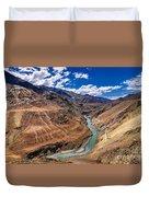 Zanskar River Ladakh Jammu And Kashmir India Duvet Cover
