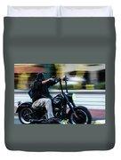 Bike Night Duvet Cover