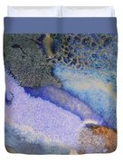 42. V1 Blue Purple Black Glaze Painting Duvet Cover