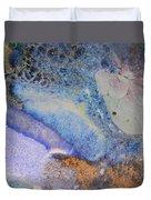 42. V2 Blue Purple Orange Black Glaze Painting Duvet Cover