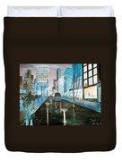 42nd Street Blue Duvet Cover by Steve Karol
