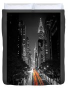 42nd Street Nyc Duvet Cover