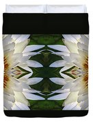 White Lotus Mandala Duvet Cover