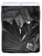 4327- Leaf Black And White Duvet Cover