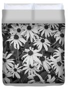 4400- Daisies Black And White Duvet Cover