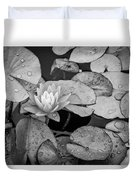 4434- Lily Pads Black And White Duvet Cover