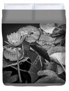 4466- Lily Pads Black And White Duvet Cover