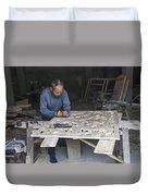 4466- Wood Carver Duvet Cover