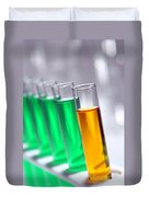 Test Tubes In Science Research Lab Duvet Cover