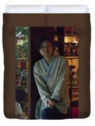 4625- Shop Girl Duvet Cover