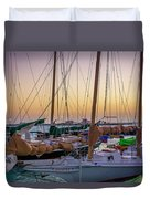 4956- Key West Harbor At Sunset Duvet Cover