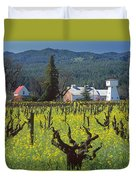 4b6394 Mustard In The Vineyards Duvet Cover