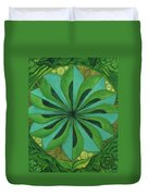 4th Mandala - Heart Chakra Duvet Cover