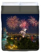 4th Of July Fireworks Duvet Cover