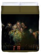 4th Of July Fireworks From The Barge Portland Oregon Duvet Cover