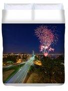 4th Of July Fireworks Portland Oregon Duvet Cover