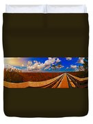 4x1 Everglades Panorama Number Two Duvet Cover