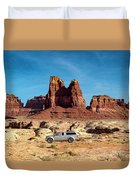 4x4 At Lake Powell Duvet Cover