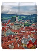 A View Of Cesky Krumlov In The Czech Republic Duvet Cover