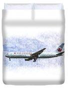 Air Canada Boeing 777 Art Duvet Cover