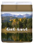 Autumn Aspen At Crystal Creek Reservoir Pikes Peak Duvet Cover