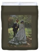 Bazille And Camille Duvet Cover