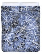 Berlin Germany City Map Duvet Cover