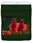 Blurred Seasonal Flower With Dark Background Duvet Cover